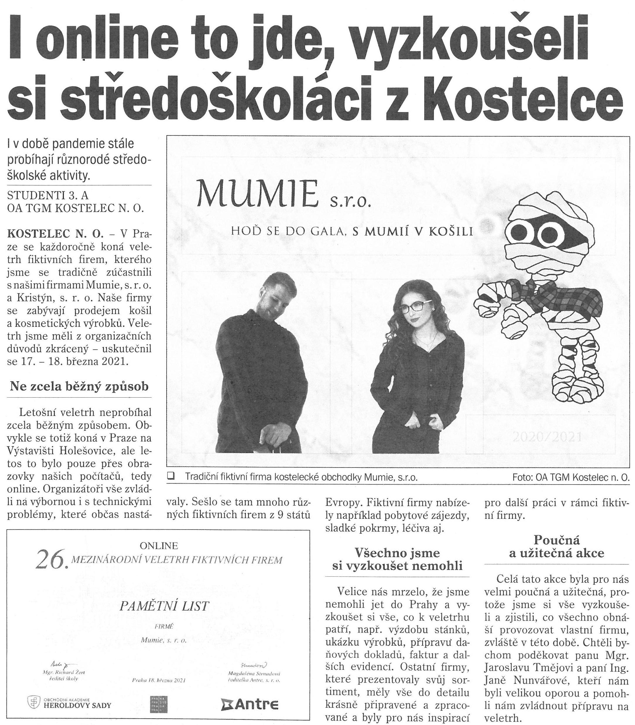 FTF článek z novin