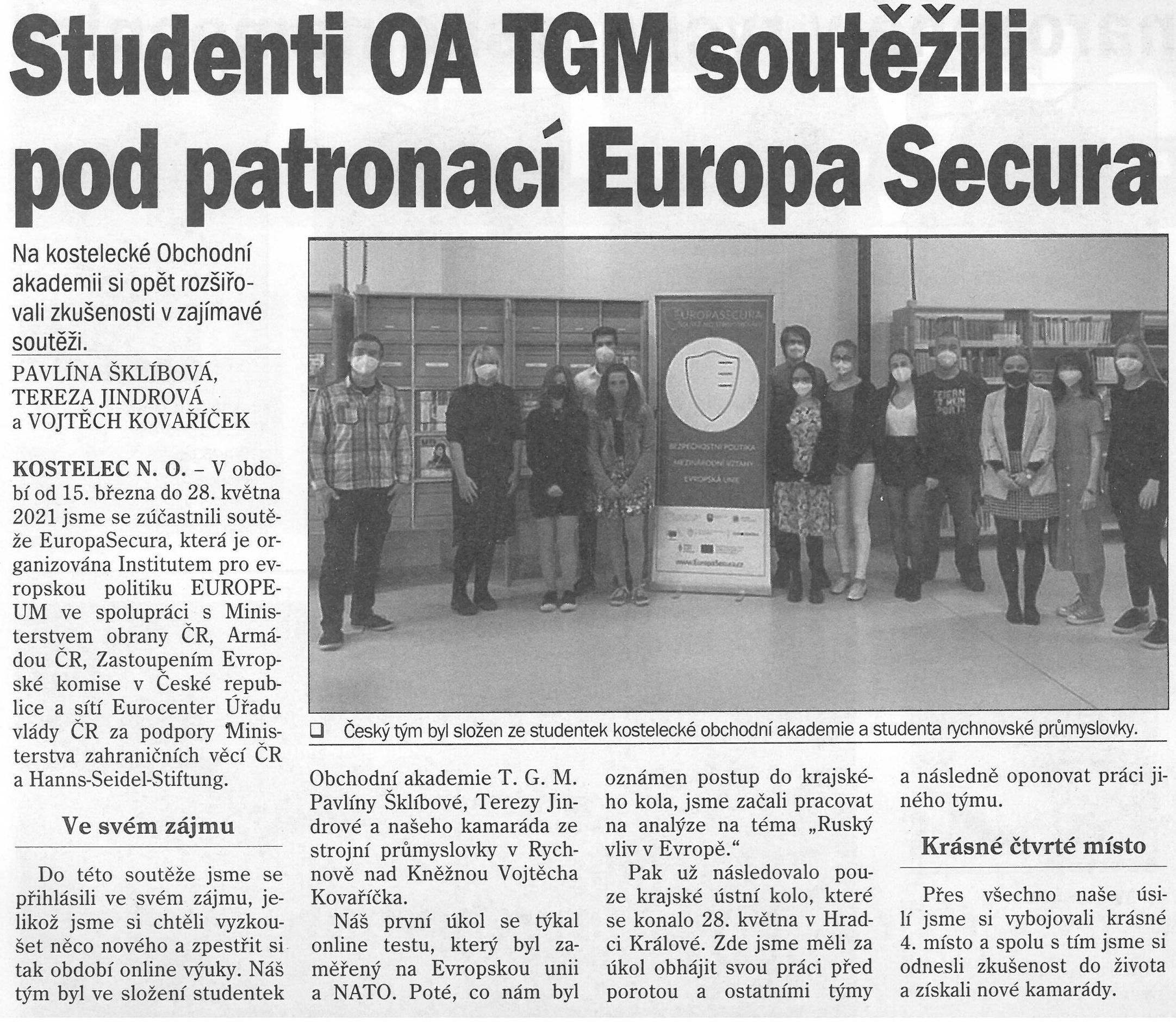 článek z novin - europasecura